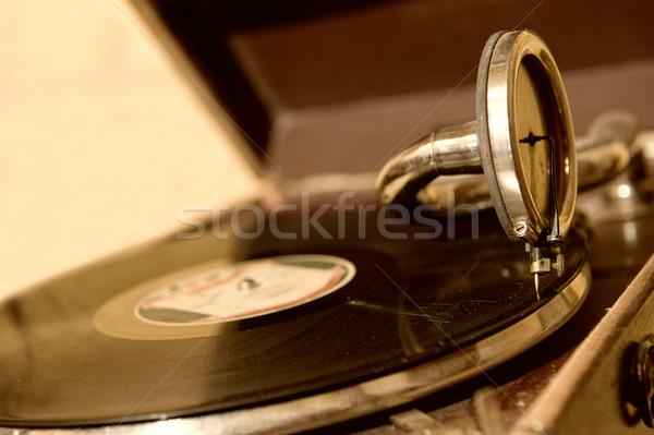 Stok fotoğraf: Eski · gramofon · müzik · konser · araç · antika