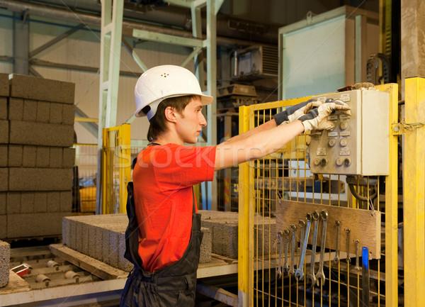 工場労働者 壊れた 作業 金属 ストックフォト © Nejron