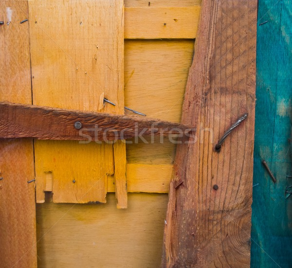 Background made from different colourful damaged wooden planks Stock photo © Nejron