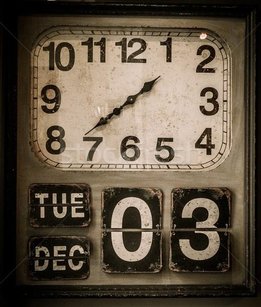 Vintage clock with a calendar  Stock photo © Nejron
