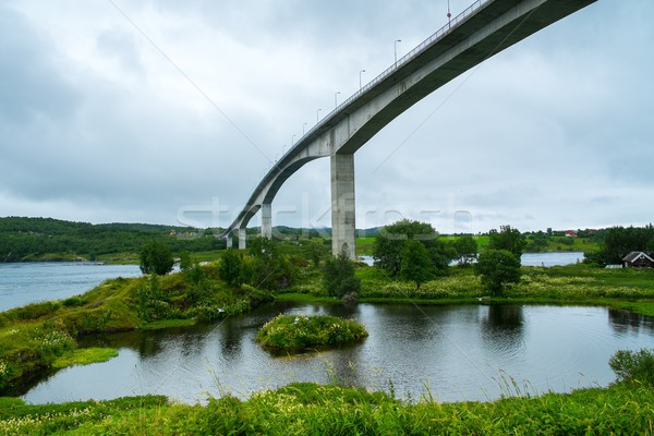 Saltstraumen Bridge on Norwegian County Road  near Bodo Stock photo © Nejron