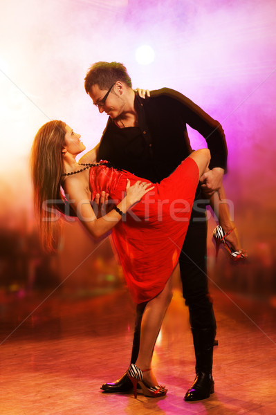 Baile club nocturno mujer nina amor Foto stock © Nejron