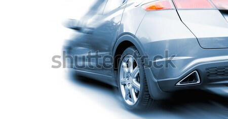 Fast sportcar isolated on white background (toned in blue) Stock photo © Nejron
