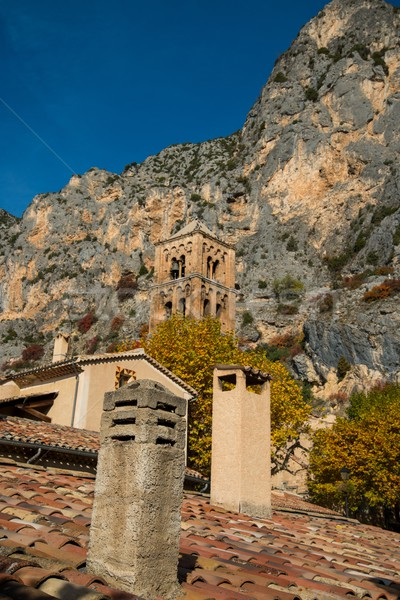 Belltower in Moustiers-Sainte-Marie, France Stock photo © Nejron
