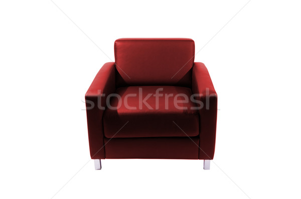 Red leather chair Stock photo © Nejron