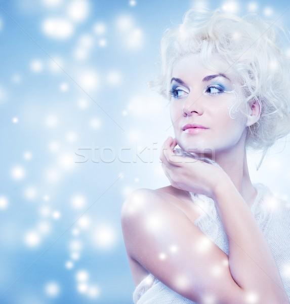 Stock photo: snow queen