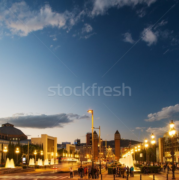 View of Plaza De Espana at night Stock photo © Nejron