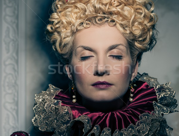 Portrait of beautiful haughty queen Stock photo © Nejron