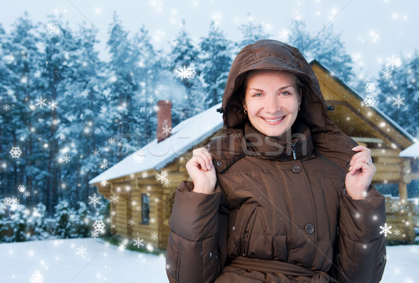 Happy young woman outdoors Stock photo © Nejron