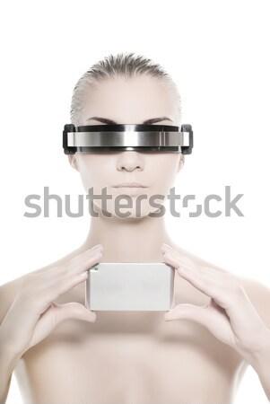 Güzel operatör kız Internet dizayn uzay Stok fotoğraf © Nejron