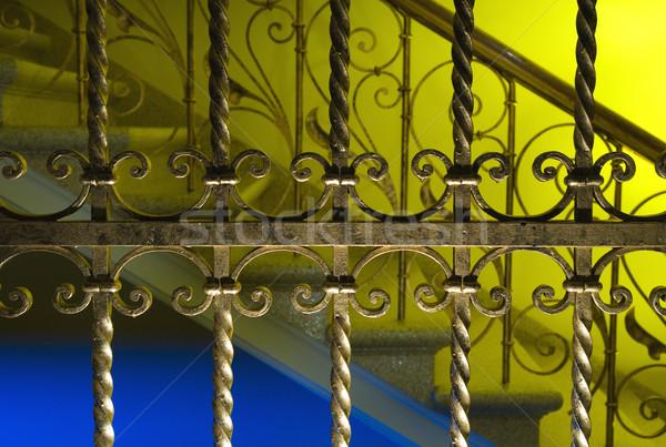 Luxus Dekoration Haus abstrakten Hintergrund Metall Stock foto © Nejron
