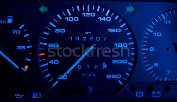 Autó műszerfal absztrakt fény technológia sebesség Stock fotó © Nejron