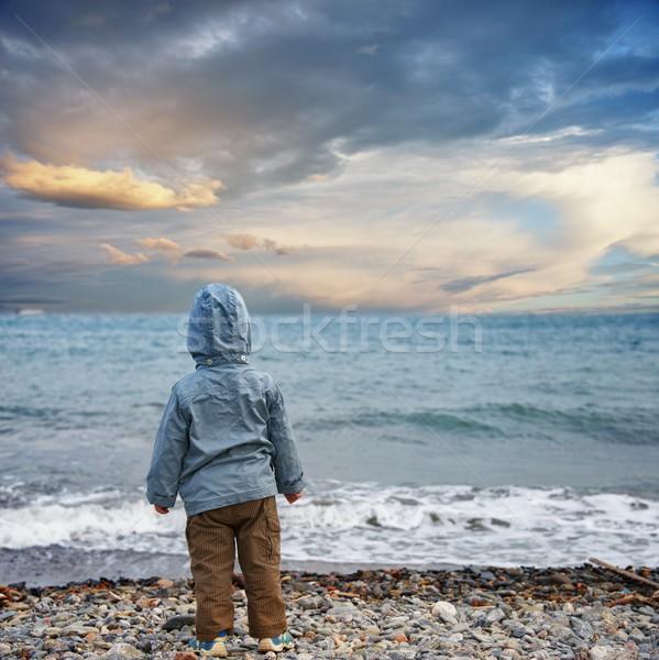 Child on a beach. Stock photo © Nejron