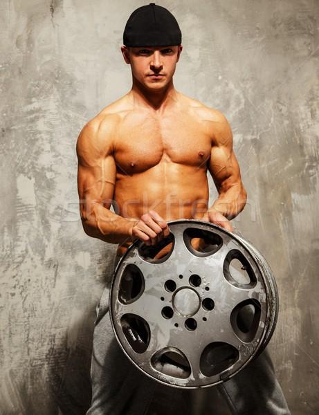 Bello uomo corpo muscoloso lega Foto d'archivio © Nejron