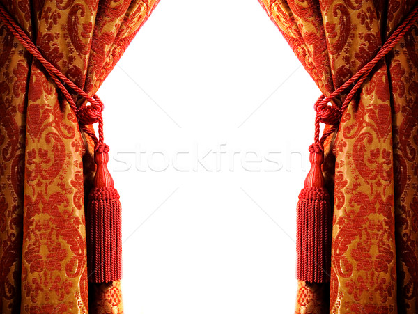 Luxury curtain with a copy-space in the middle Stock photo © Nejron