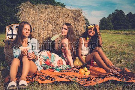Group of beautiful women in harem Stock photo © Nejron