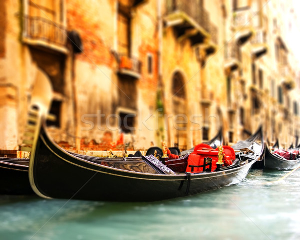 Traditional Venice gandola ride (shallow DoF, focus on gandola) Stock photo © Nejron