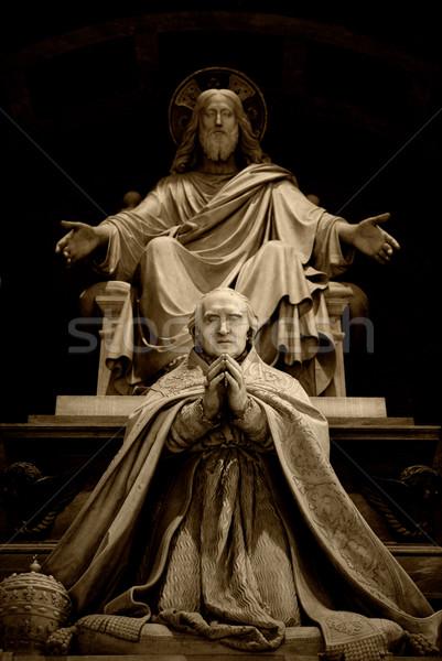 彫刻 イエス 祈り 抽象的な 光 背景 ストックフォト © Nejron