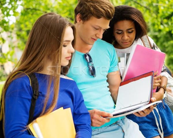Grupo estudantes final exames cidade Foto stock © Nejron