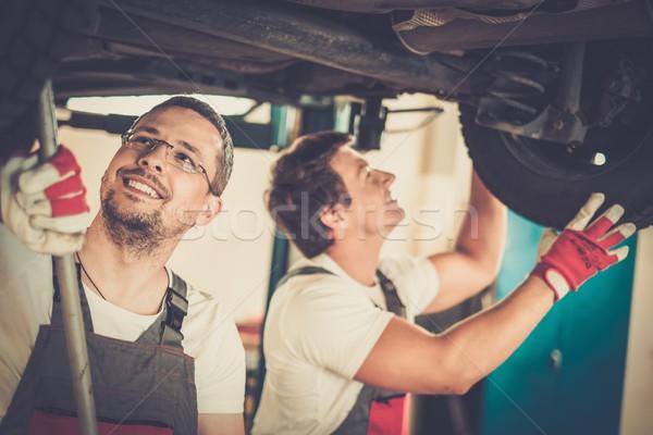 подвеска автомобилей семинар работу технологий промышленности Сток-фото © Nejron