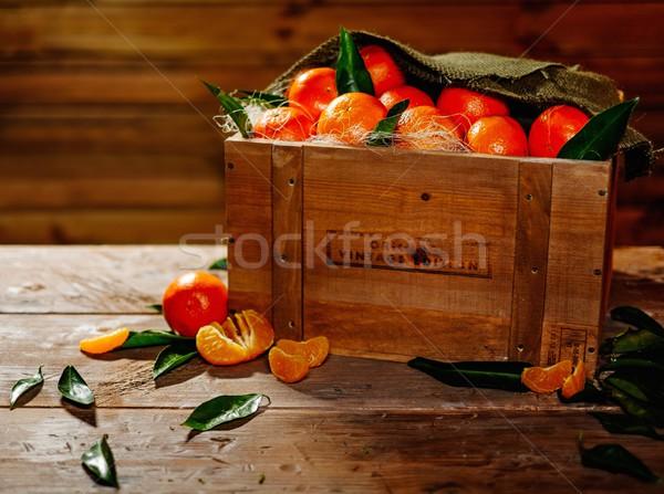 Skrzynia smaczny tabeli charakter zdrowia Zdjęcia stock © Nejron