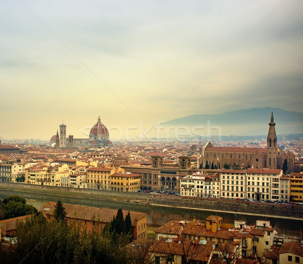 Florence city view  from Piazzale Michelangelo, Italy. Stock photo © Nejron