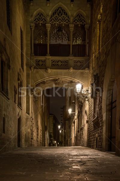 橋 バルセロナ 市 通り ウィンドウ 芸術 ストックフォト © Nejron