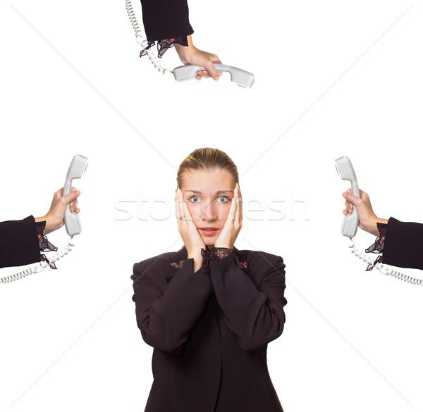 Stressed business woman Stock photo © Nejron