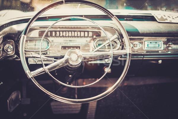 Interior of a classic american car  Stock photo © Nejron