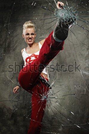 Punk ragazza vetro boot donna faccia Foto d'archivio © Nejron