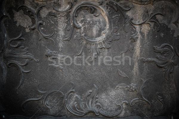 Vintage stuc décoration mur bâtiment travaux Photo stock © Nejron