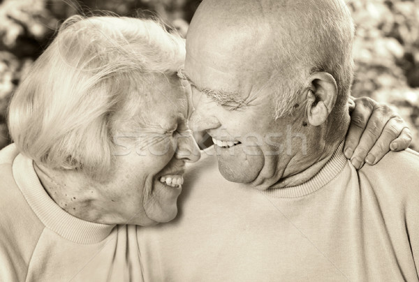 Happy senior couple in love Stock photo © Nejron