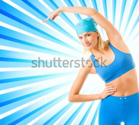 Fitness trainer Stock photo © Nejron