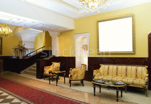 Luxury hotel lobby Stock photo © Nejron