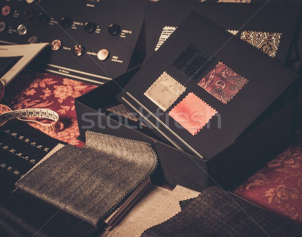 Cloth samples for custom made suits  Stock photo © Nejron