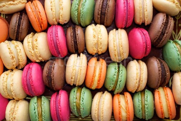 Colorful macaroons background. Stock photo © Nejron