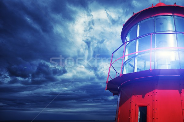 Lighthouse against  stormy sky. Stock photo © Nejron