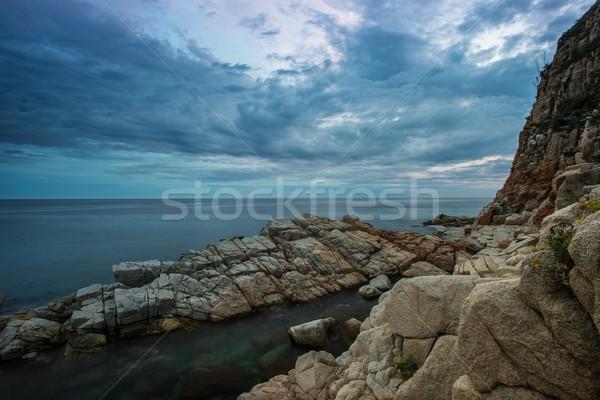 Melancólico cielo costa naturaleza océano azul Foto stock © Nejron