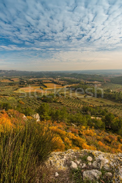 Beautiful panoramic view at  Les Baux-de-Provence, France Stock photo © Nejron