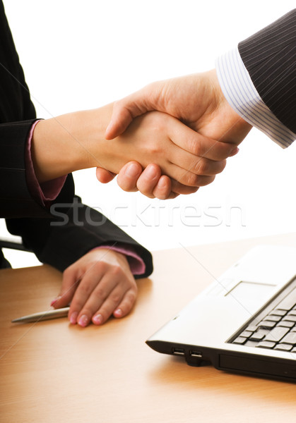 Business man and business woman making a treaty Stock photo © Nejron