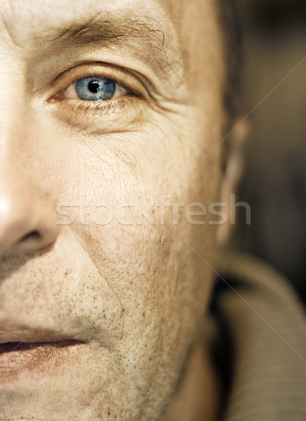 Middle-aged mand face fragment Stock photo © Nejron