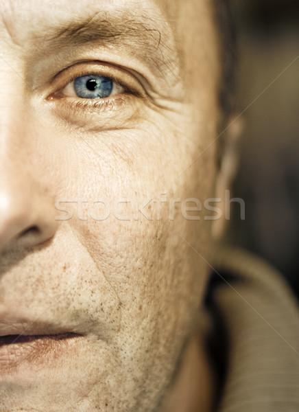 Cara fragmento hombre triste trabajador Foto stock © Nejron