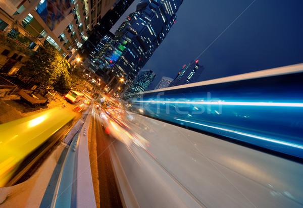 Fast moving bus at night    Stock photo © Nejron