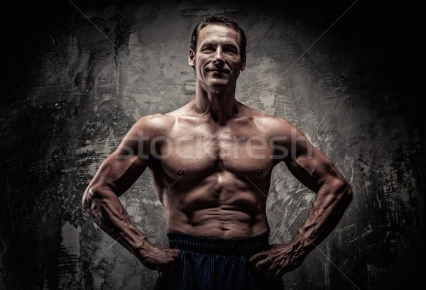человека мускулистое тело спорт фитнес осуществлять Сток-фото © Nejron
