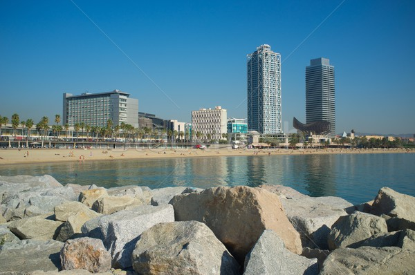 Barceloneta beach in Barcelona Stock photo © Nejron