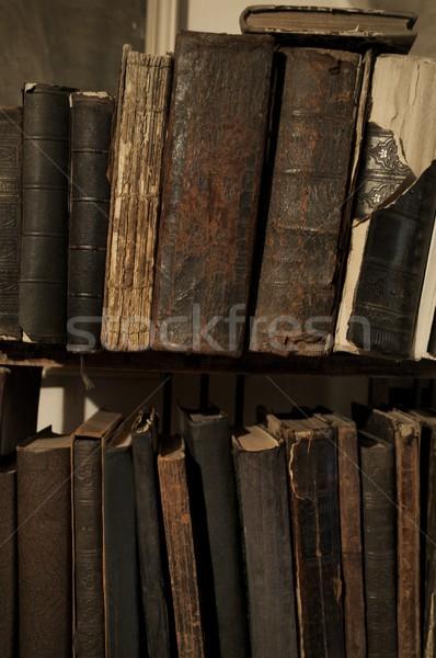 Vintage books in a row. Stock photo © Nejron
