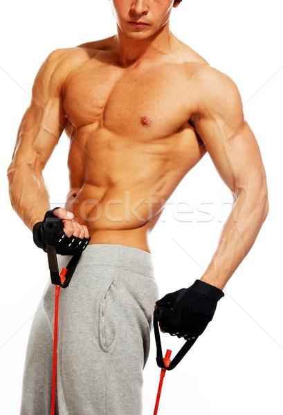 красивый мужчина мускулистое тело фитнес осуществлять спортзал мышцы Сток-фото © Nejron