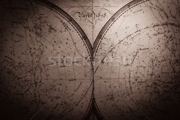 Vintage sky map in two pieces  Stock photo © Nejron