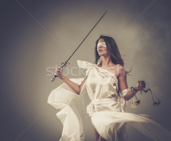 Femida, Goddess of Justice, with scales and sword  Stock photo © Nejron