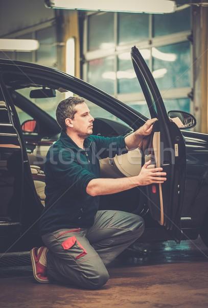 работник автомойку очистки автомобилей интерьер бизнеса Сток-фото © Nejron
